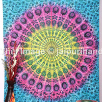 Tie-Dye Tapestry, Mandala Tapestries, Twin Bedding Dorm Decor, Beach Sheet, Hanging Wall Art, Tie Dye Mandala Tapestry, Boho Tapestry, Decor