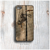 iPhone 5C Case Wood Print, TOUGH iPhone 5s Case Horse, Rubber iPhone 4 Case, iPhone 4s Case, Horse iPhone Case, Wood Print iPhone Cover T17