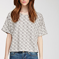 Abstract Print French Terry Top