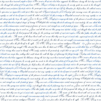 Jane Austen Pride Text blue and black on white - 13moons_design - Spoonflower