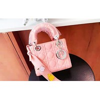 DIOR has popular fashion lady moire shopping bag with single shoulder bag