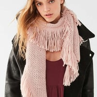 Fringed Knit Scarf   Urban Outfitters