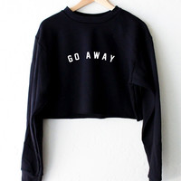Go Away Oversized Cropped Sweater