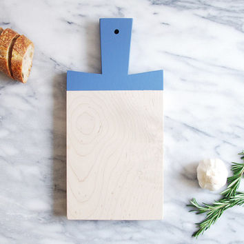 Sailor Blue Maple Paddle Cutting Board | Host Gift | Wooden Cutting Board | Painted Chopping Board | Hostess Gift