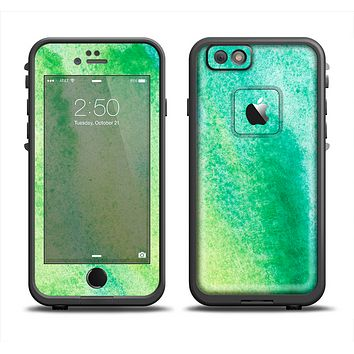 The Vibrant Green Watercolor Panel Apple iPhone 6 LifeProof Fre Case Skin Set