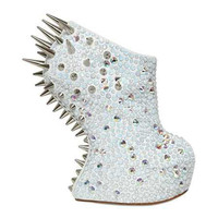 M.L.M. Spiked Heel Less Boots