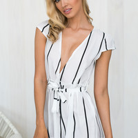 Make A Wish Playsuit In White | BLACKSWALLOW Fashion Online Shopping - Blackswallow Boutique