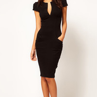 Short Sleeve Midi Pencil Dress