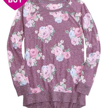 PRINTED RAGLAN LONG SLEEVE TEE | GIRLS CLOTHES NEW ARRIVALS | SHOP JUSTICE