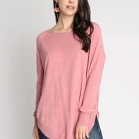 Rose Water Sweater Top   Ruche