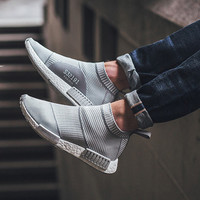"""Adidas"" NMD City S""Adidas"" NMD City Sock PK Gray White Stripes Casual Sports Shoesock PK Gray White Stripes Casual Sports Shoes"
