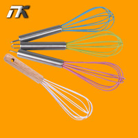 3 Size Kitchen Food-grade Silicone Egg Beaters Eggbeater Whisk Mixer Egg Cook Tools Kitchen Blender New Egg Tools D757