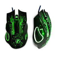 ESTONE X9 5000DPI LED Optical 6D USB Wired game Gaming Mouse gamer For PC computer Laptop perfect upgrade combine x5 x7
