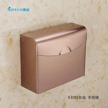 Stainless Steel Sanitary Toilet Tissue Carton BOX Wall Mounted K30 DRAWING GOLD