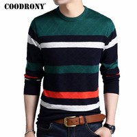 COODRONY Mens Sweaters 2017 Autumn Winter New Arrivals Cashmere Pullover Men Brand Clothing Knitted Wool O-Neck Sweater Men 7169
