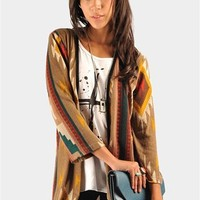 Pascal Tribal Cardigan - Brown at Necessary Clothing