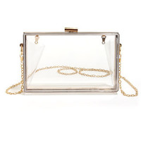 Lucite the Way Clear Lucite Clutch