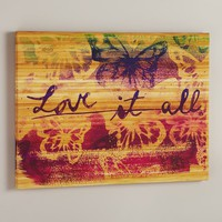 """Love It All"" Wall Art"