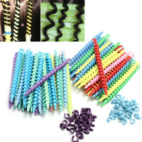 25Pcs Plastic Styling Hairdressing Spiral Hair Perm Rod Long Short Size