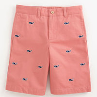Boys' Shorts: Embroidered Whale Club Shorts for Boys' - Vineyard Vines