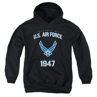 AIR FORCE/PROPERTY OF-YOUTH PULL-OVER HOODIE - BLACK -