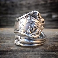 The Old Maple Sterling Spoon Ring