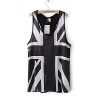 Casual Union Jack Pattern Vest for Summer