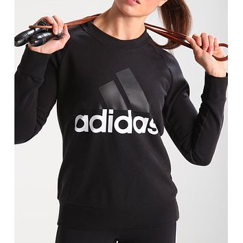 Adidas Women Casual Sport Long Sleeve Top Sweater Pullover Sweatshirt