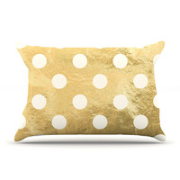"KESS Original ""Scattered White"" Pillow Case"
