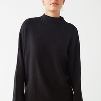 UO Benny Fuzzy Mock-Neck Sweater | Urban Outfitters