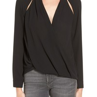 Trouvé Cutout Surplice Top | Nordstrom