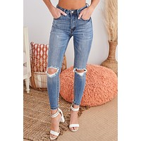 Ready To Represent Distressed High Rise Skinny Jeans (Medium)