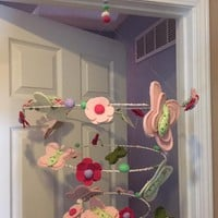 Pottery Barn Adjustmentable Butterfly and Flowers Mobile