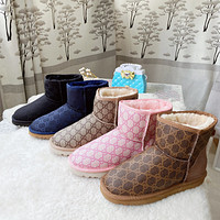 UGG x GG new double G letter women's warm and ski boots