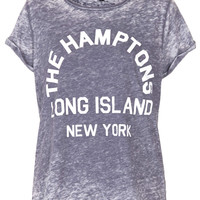 Hamptons Burnout Tee - New In This Week - New In - Topshop USA