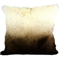 Goat Fur Pillow Chocolate Spectrum