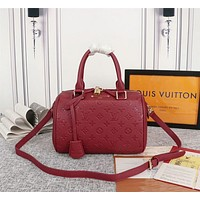 LV Louis Vuitton WOMEN'S MONOGRAM LEATHER SPEEDY 25 HANDBAG SHOULDER BAG