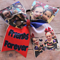 Friends Forever Picture Cheer Bow, Softball, Soccer Bow