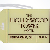 disney parks hollywood studios the hollywood tower hotel luggage tag new w tags