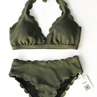 Cupshe Beatific Life Solid Bikini Set