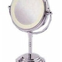Conair Double-Sided Battery-Operated Lighted Makeup Mirror, Polished Chrome Finish