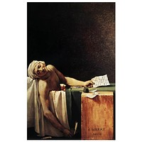 Jacques-Louis David The Death of Marat Poster 11x17