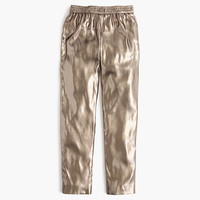 J.Crew Womens Collection Silk Lamé Pull-On Pant