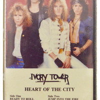 Vintage 80s Ivory Tower Heart of the City Glam Metal Album Cassette Tape