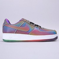 Nike Air Force 1 New fashion hook print chameleon running shoes