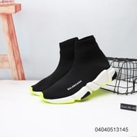 Balenciaga Shoes for Men's & Women's Speed Trainer Mid 'Black Red' Unisex
