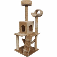 """Goplus 52"""" Cat Kitty Tree Tower Condo Furniture Scratch Post Pet Home Bed Beige   PS5187BE"""