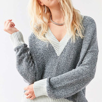 Silence + Noise Remy Deep V Sweater - Urban Outfitters