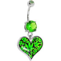 For the Love of Hemp Heart Belly Ring | Body Candy Body Jewelry
