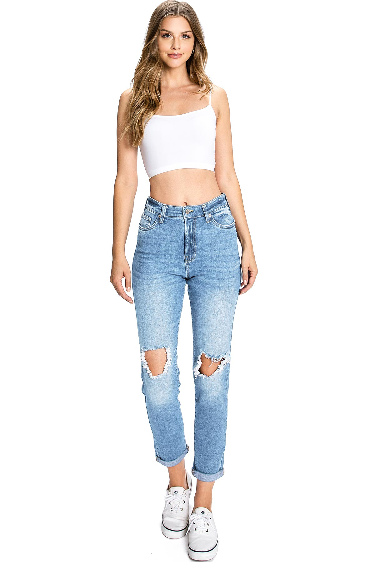 Image of Classic Ripped Mom Jeans
